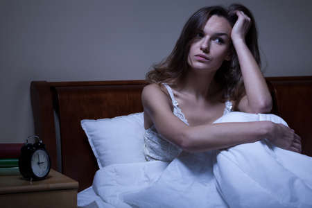 troubles: View of problems with sleeping at night