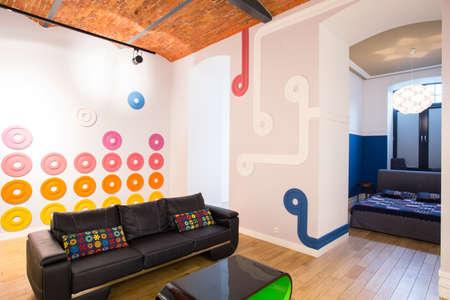 interior spaces: Horizontal view of open designed loft interior