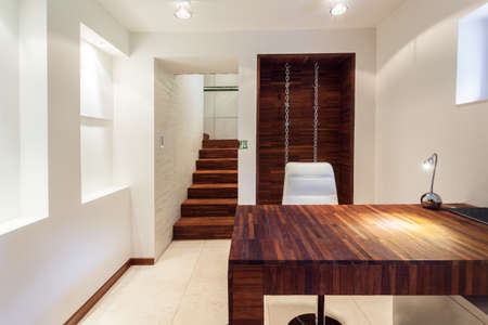 anteroom: View of working area in modern apartment
