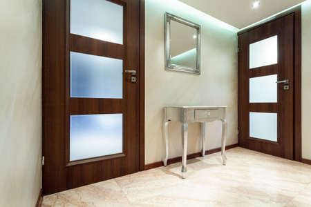 anteroom: Horizontal view of hall in modern apartment
