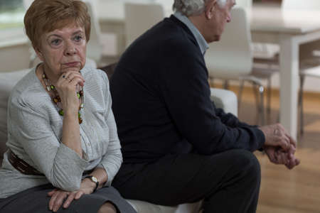 Picture of aged marriage having crisis in relationship Stock Photo
