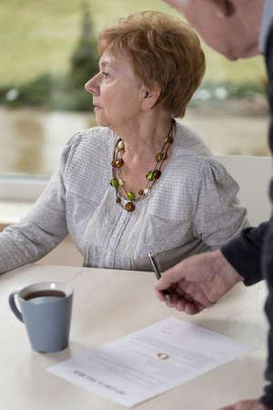 returned: Picture of elder woman returned wedding ring