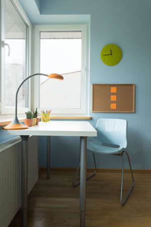 small room: New contemporary children study room with small white desk