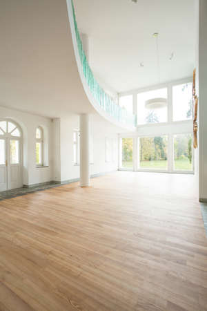 balustrade: Empty space inside the new home, vertical