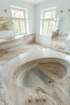 expensive granite: View of marble sink in a bathroom