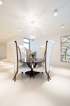 roundtable: Round table in luxury bright dining room