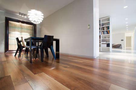 Horizontal view of interior in modern design