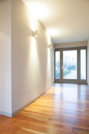anteroom: Vertical view of empty hall in residence Stock Photo