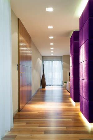 a detached living room: Photo of empty passageway in luxury house