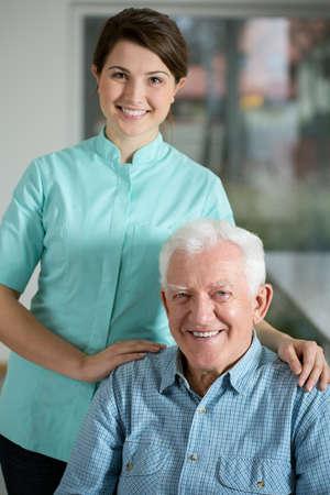 needing: Portrait of senior man needing welfare service
