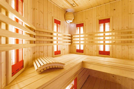 residence: Wooden hot sauna at luxury residence