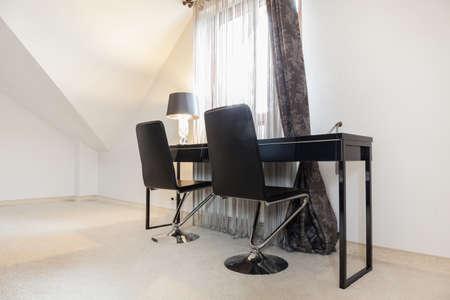 esthetic: Modern esthetic modest study room in luxury apartment Stock Photo