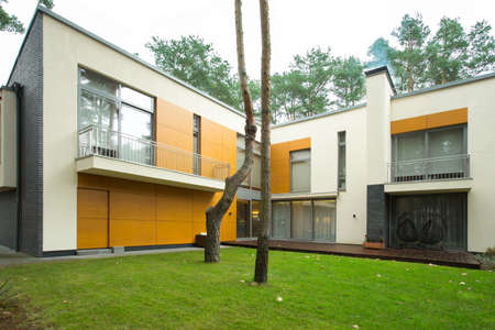 Large modern house from the outside