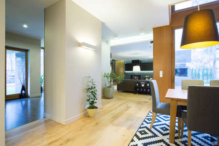 The spacious and stylish interior modern home Stock Photo