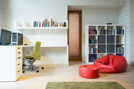 Stylish accommodation of room in modern house Archivio Fotografico