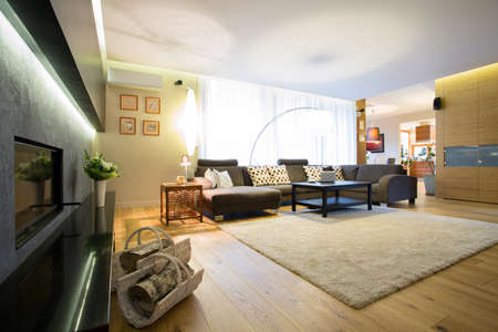 enormous: Enormous bright lounge with big comfortable sofa