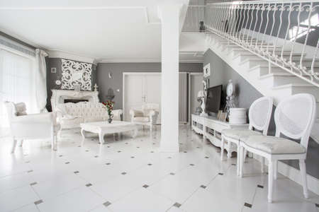 comfort room: View of designed interior of expensive residence