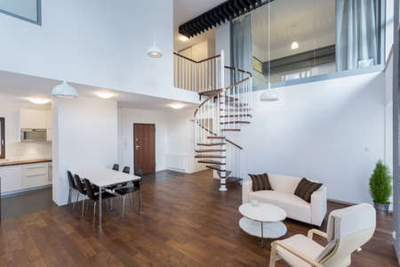 Horizontal view of beauty interior in contemporary design