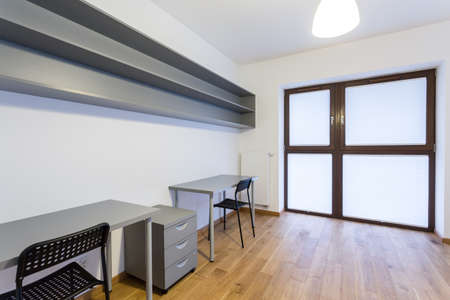 Horizontal view of small office at home