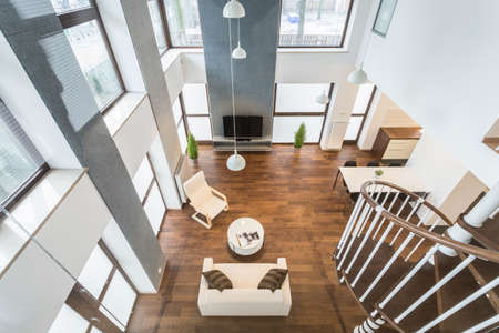 Interior of luxury residence - view from above Stock Photo