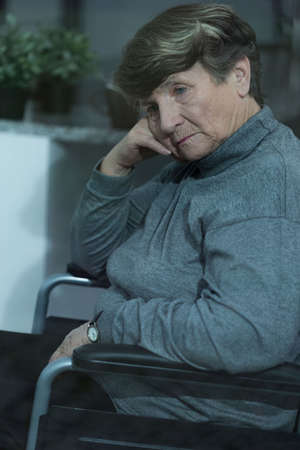 alone person: Resident of nursing home suffering for depression