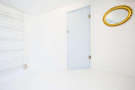 Bright bathroom space in the attic, horizontal photo