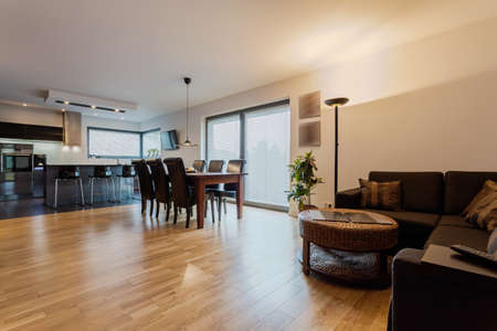 cosy: Cosy and elegant apartment with modern furniture Stock Photo