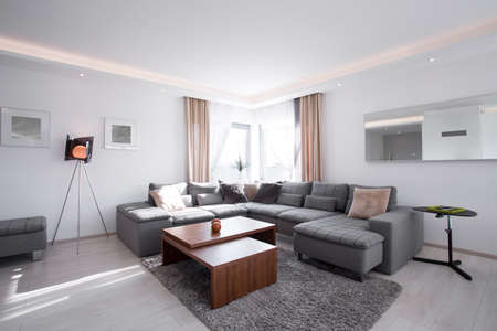 Picture of designed interior with modern furniture photo