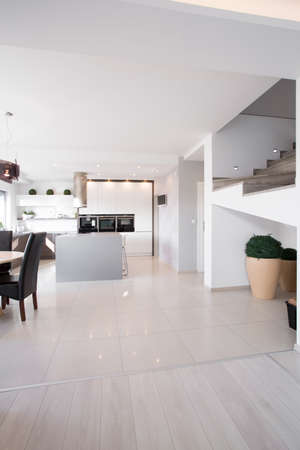 gleaming: Photo of gleaming interior in modern apartment