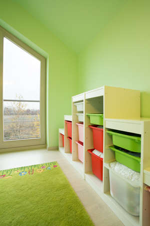 bright space: Colorful bright space for children in new luxury house Stock Photo