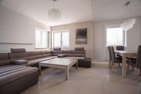 velours: Luxury comfortable corner sofa in exclusive residence