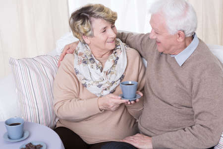 pleasant: Happy elder marriage spending pleasant time together