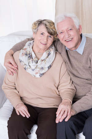 age: Happy people falling in love in old age