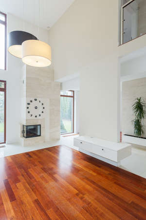 Bright unfurnished new lounge in modern residence