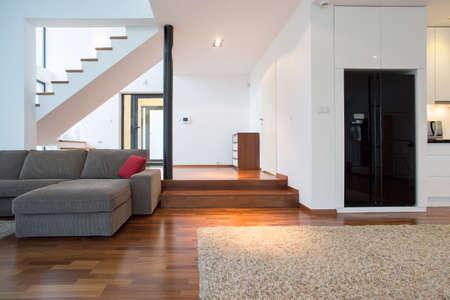 big family: Big elegant lounge with wooden podium