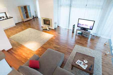 view of an elegant living room: View from the top of new elegant living room