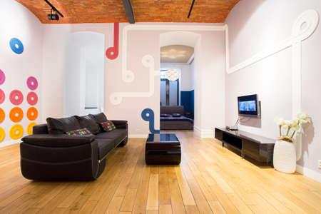 modern living: Modern living room interior with color details