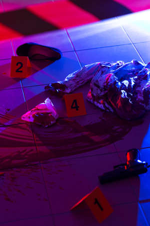 forensic medicine: Collection of evidences on a crime scene