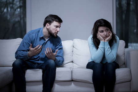 relationship breakup: Image of man apologizing his girlfriend after quarrel