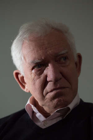 malcontent: Portrait of crying elderly man