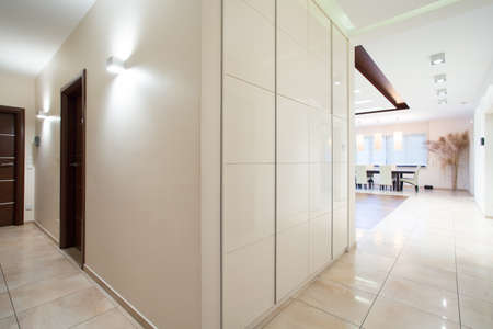 parter: Large elegant hallway with marble floor