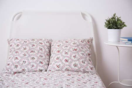 Floral bedding set in teenage girl room photo