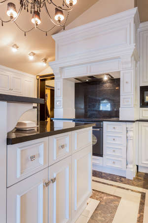 Picture of extravagant oven in new fashionable kitchen photo