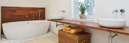 Interni di bagno in stile africano - panorama Archivio Fotografico - 39623743
