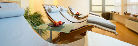 beauty resort: New luxury beauty resort with bright resting space, panorama