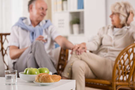 Picture presenting daily life of senior couple
