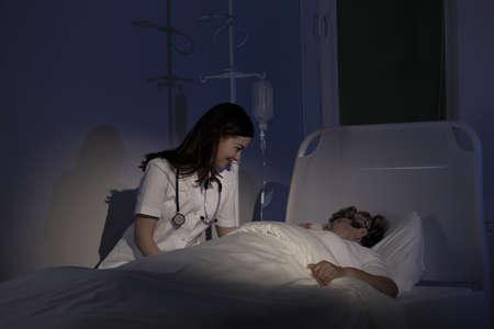 Cure palliative - la cura per malato terminale Archivio Fotografico - 40028227