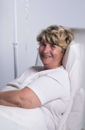 Portrait of ill patient full of hope