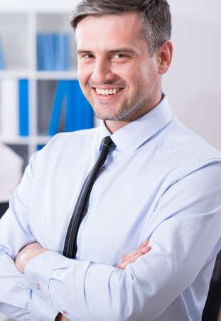 Portrait of mature businessman with beauty smile