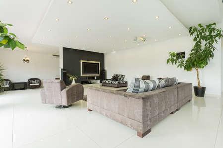 Modern and interesting interior huge mansion